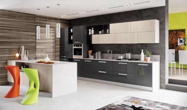 Moderne Küchenzeile moderne küchenzeile weiße oberschränke grau kitchen