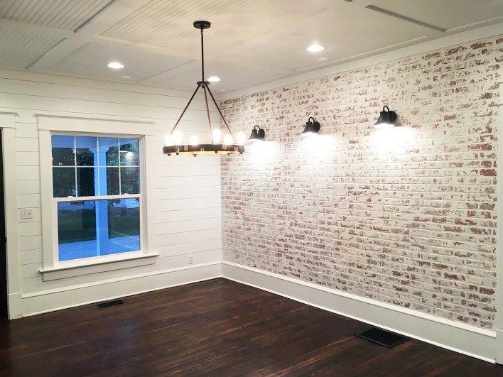 How to Build a Faux Brick Wall #accentwall