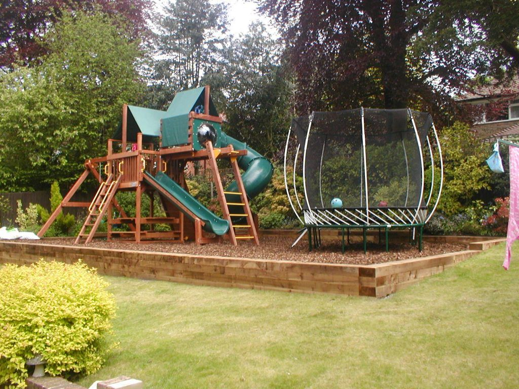 Garden Design Play Space 3 675x506 2018 Trending 15 Garden Designs To Watch For In 2018 Childrens Play Area Garden Play Area Garden Play Area Backyard