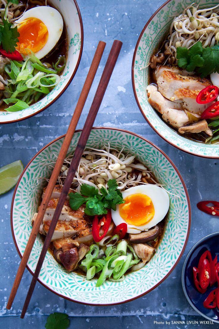 ramen kyckling recept
