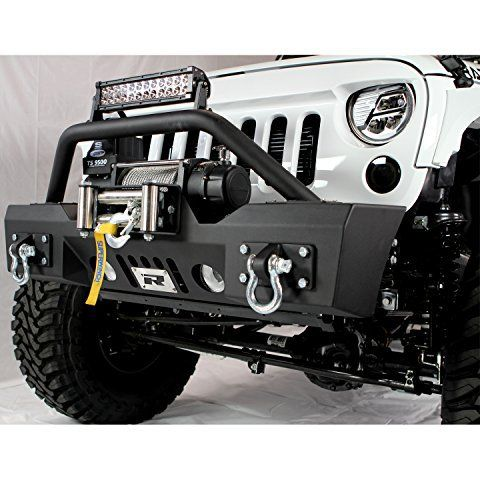 Razer Auto Jeep Wrangler Jk Stubby Front Bumper With Fog Lights D Rings Winch Plate Jeep Wrangler Bumpers Jeep Wrangler Jk Jeep Wrangler Accessories
