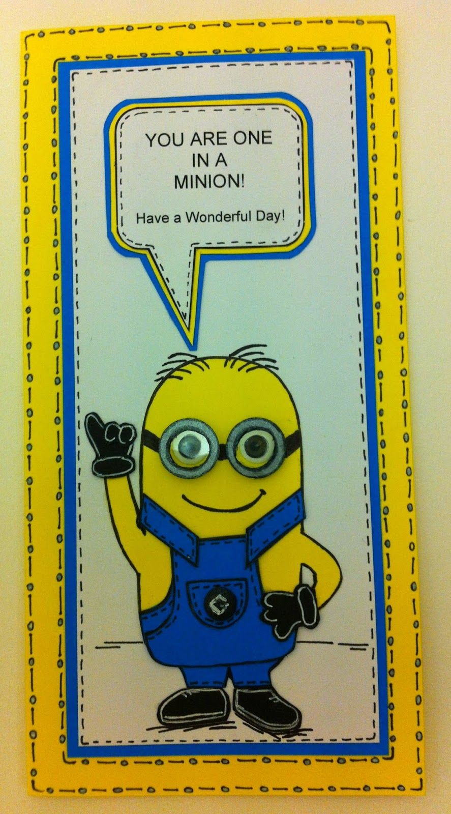 One In A Minion Card Tutorial With Free Template