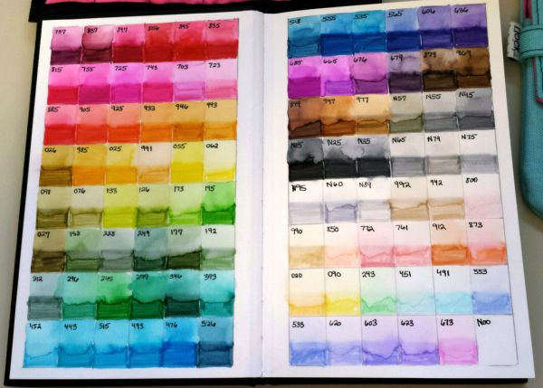 Tombow Marker Color Chart New And Improved Writing Passion