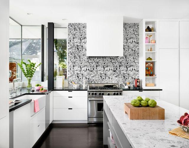 #Dekoration Wandgestaltung In Der Küche U2013 Tapetenmotive Im Trend # Wandgestaltung #in #der