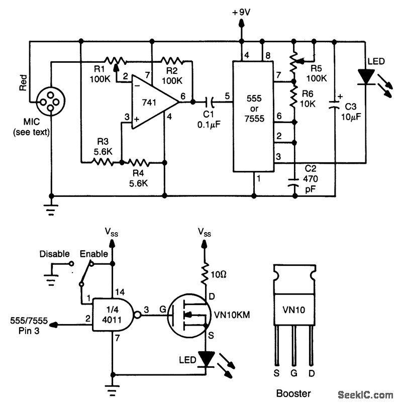 Volice Modulated Pulse Fm Ir Transmitter