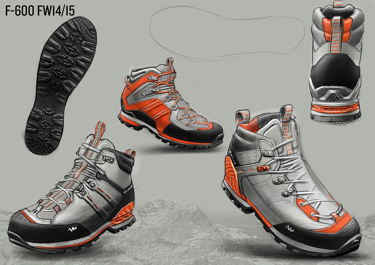 Hiking Footwear Fw14 15 On Behance Best Hiking Shoes Shoe Design Sketches Hiking Shoes