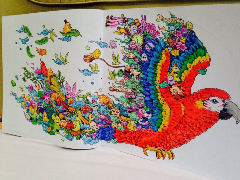 Finished Few Months Ago Animorphia Coloring Book Animorphia Coloring Coloring Book Art