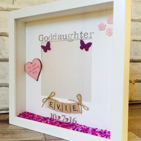 Goddaughter Frame, Goddaughter Gift, Personalised Godmother Picture ...