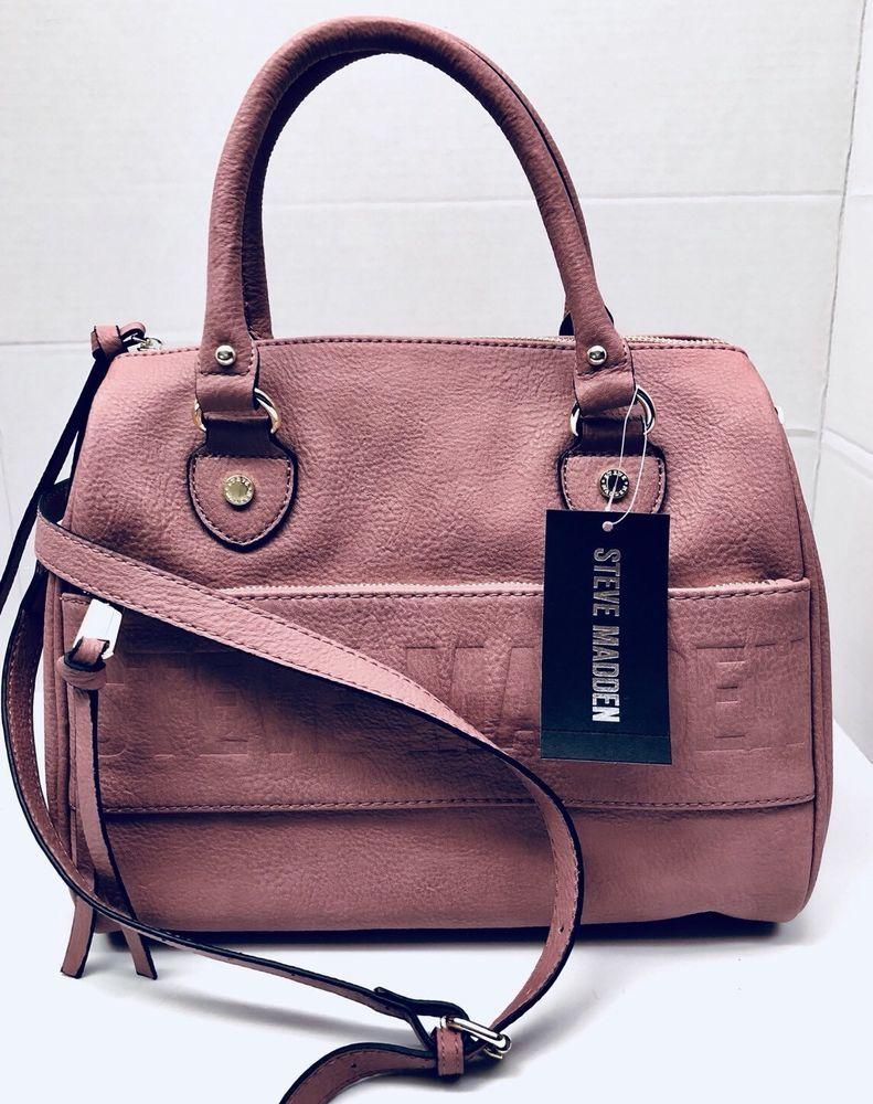Steve Madden BDEX logo Crossbody Satchel Tote Handbag Color Dusty Rose NWT  NEW   eBay  ebay ef22bd8396