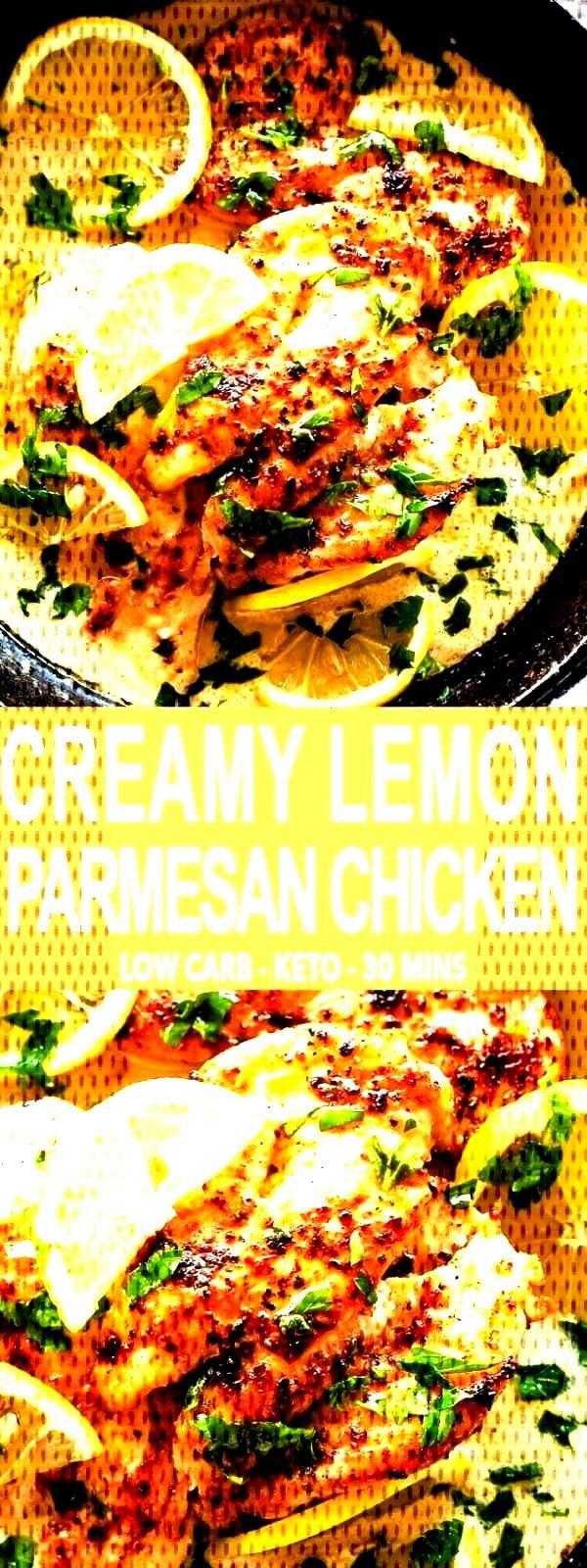 Creamy Lemon Parmesan Chicken | Chicken Breasts Dinner Idea -Creamy Lemon Parmesan Chicken | Chicke