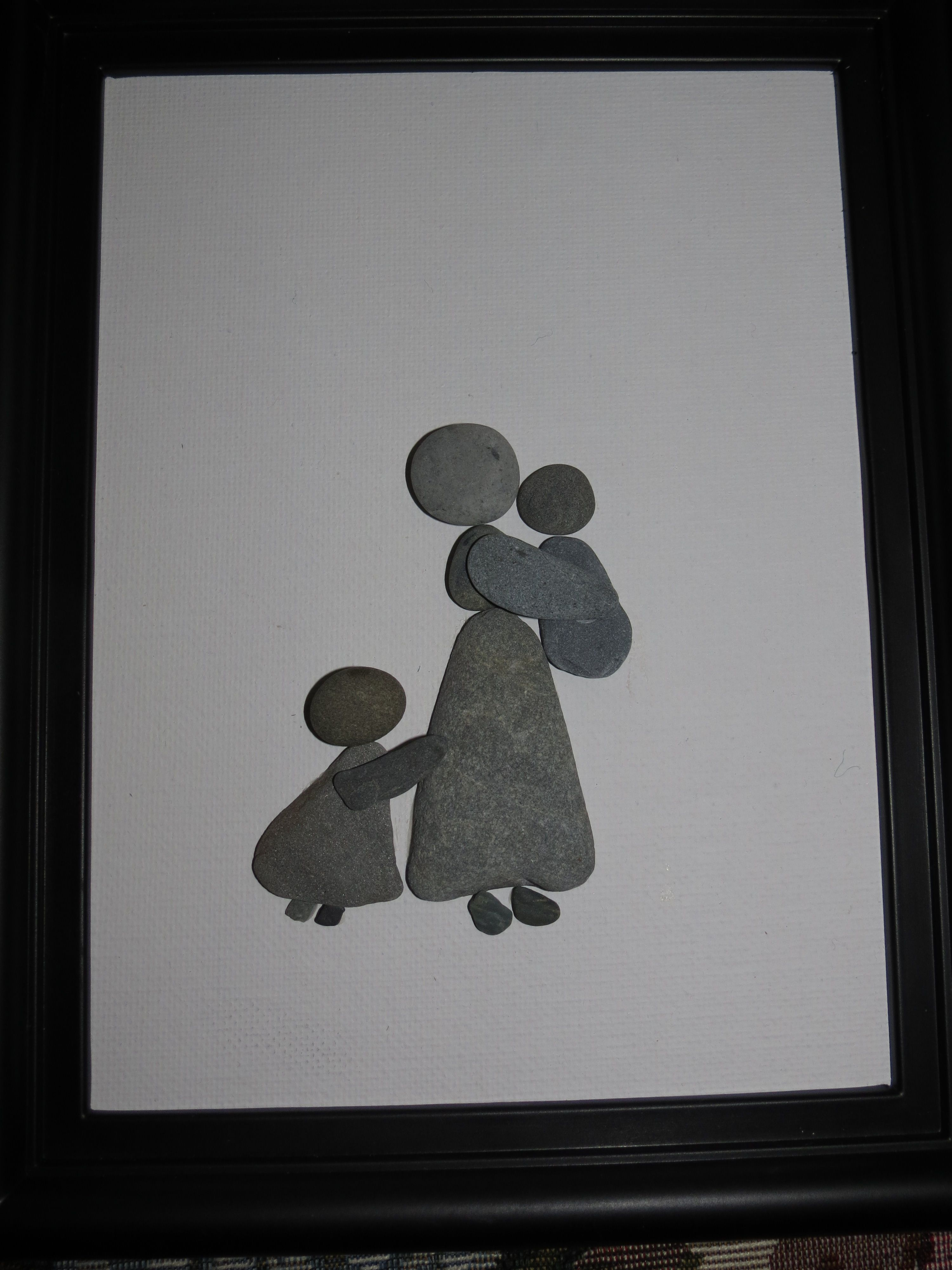 Madre con hijos.