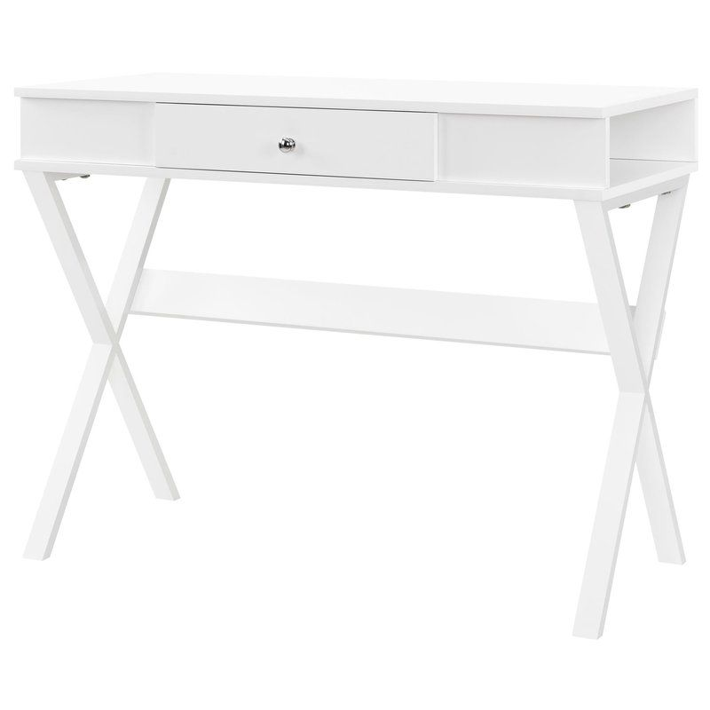 Cassiopeia Drawer Desk Campaign Desk Solid Wood Writing Desk