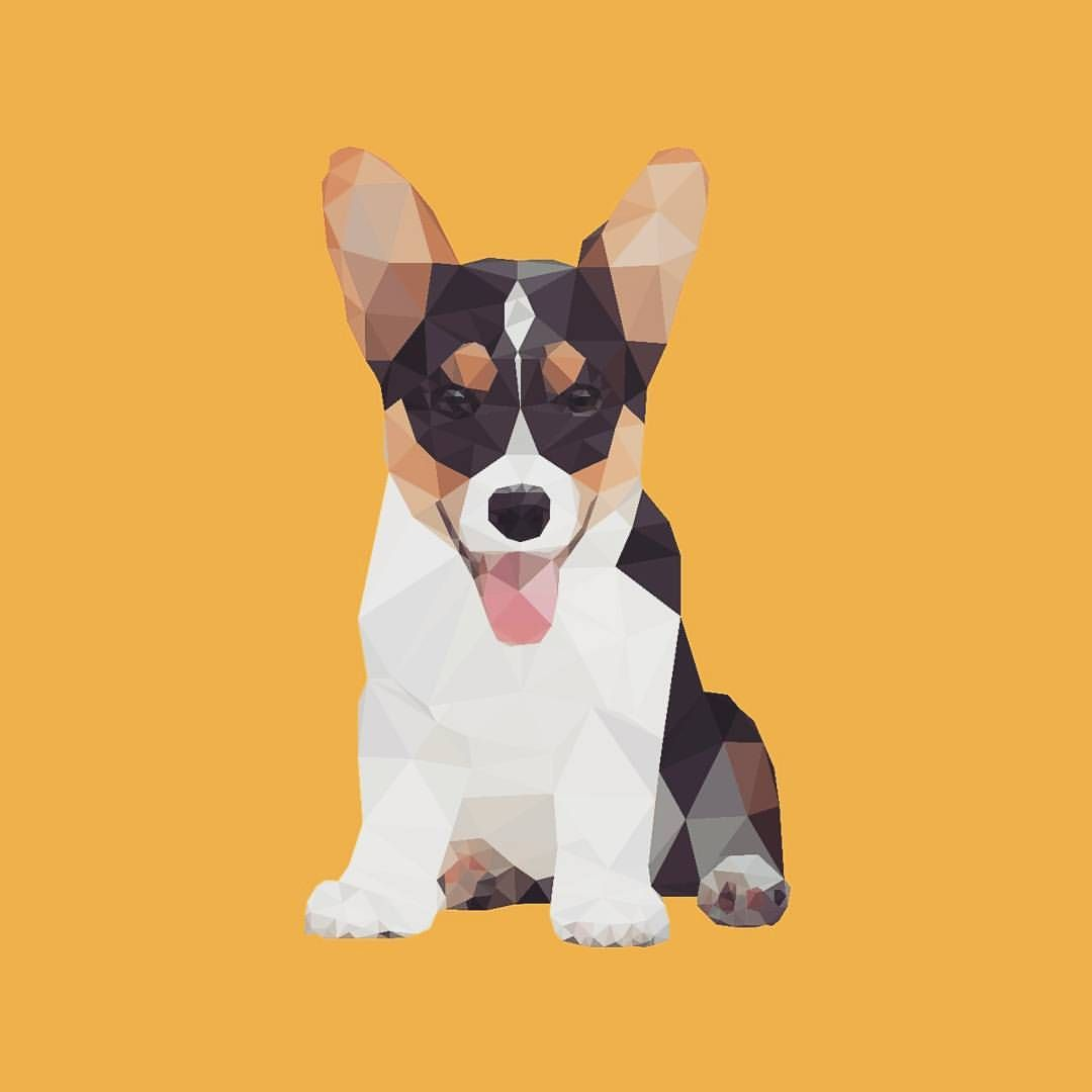 """324 Likes, 30 Comments - Vector the Design Dog✒ (@vectorthedesigndog) on Instagram: """"My mom made this portrait of me! She's a graphic designer and stuff...✒💻✏ @colonelcourn"""""""