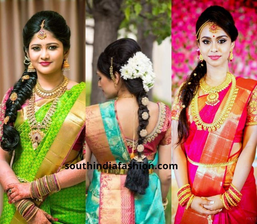 Indian Braids Hairstyle: 40 Trending South Indian Bridal Hairstyles