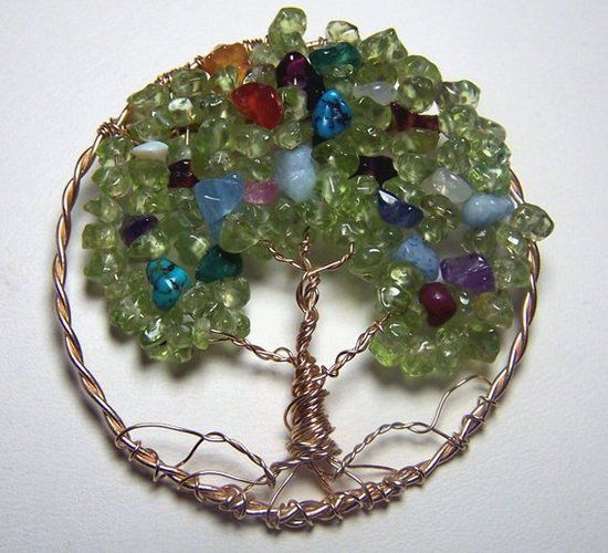 Bailey's Nana Creations! CUSTOM Birthstone Tree of Life Pendant!!!  Tree of Life ...Birthstone . Starting at $15 on Tophatter.com!