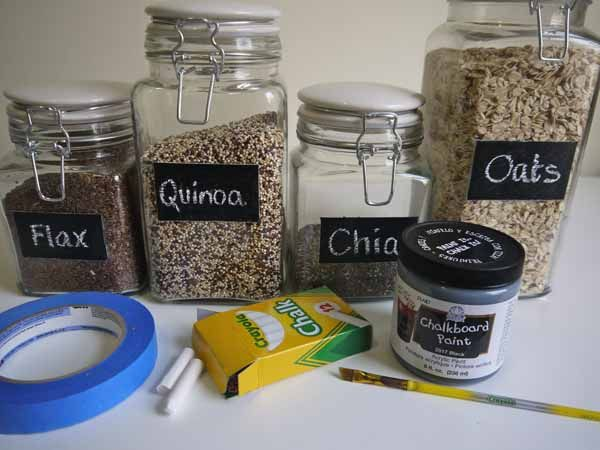 Diy Chalkboard Paint Glass Jars  Diy Chalkboard Paint Diy Amusing Glass Kitchen Containers Decorating Inspiration