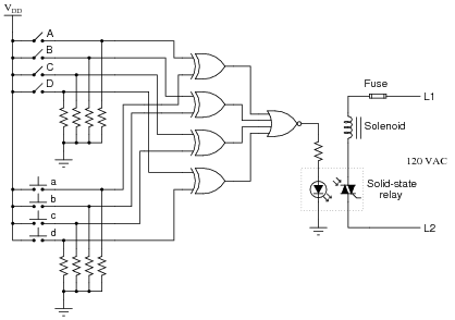 Electronic Door Lock Circuit Diagram Here Is A Schematic Diagram