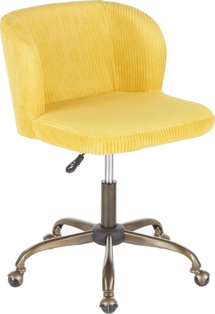 Fussell Yellow Desk Chair In 2020 Yellow Desk Chair Desk Chair