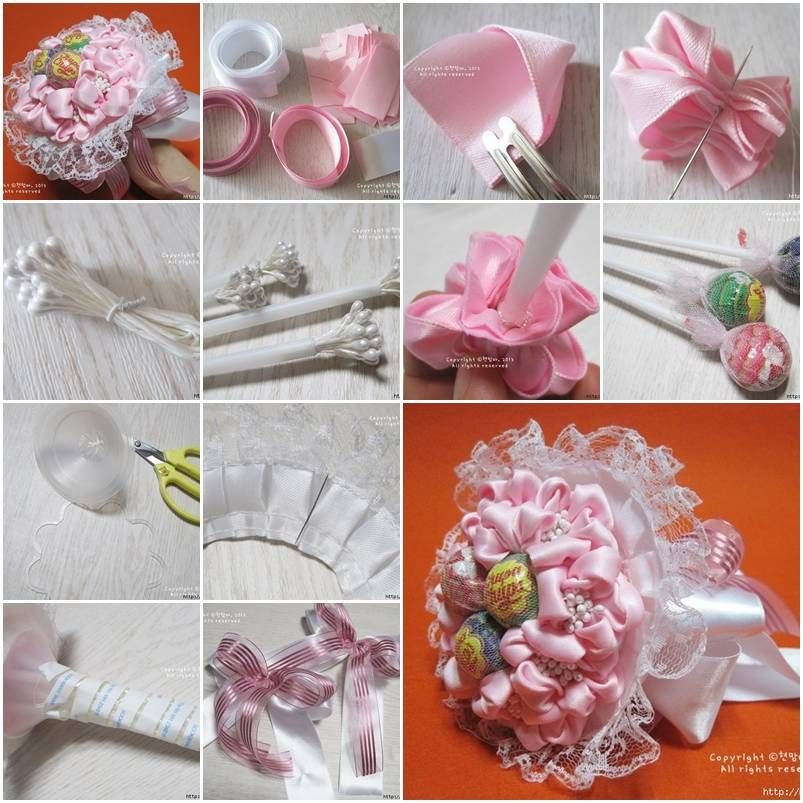 How to make ribbon and lace candy bouquet step by step diy tutorial how to make ribbon and lace candy bouquet step by step diy tutorial instructions how solutioingenieria Image collections