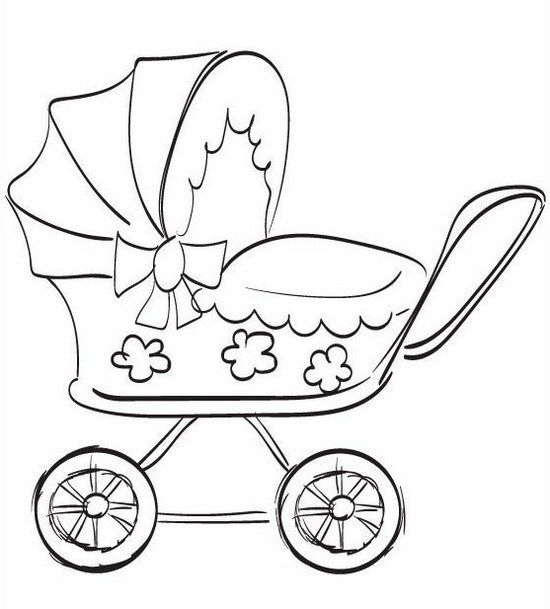 Best Baby Stroller Coloring Page Baby Carriage Coloring Sheets