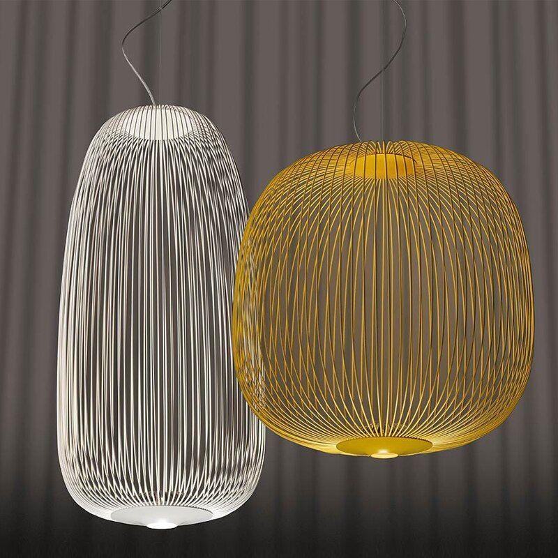 Moderne Foscarini Speichen 1 2 Anhanger Lichter Led Hangen Lampe Industrie Kafig Suspension Wohnkultur Wohnzimmer Leuchten In Pendell Lampe Led Design Leuchten