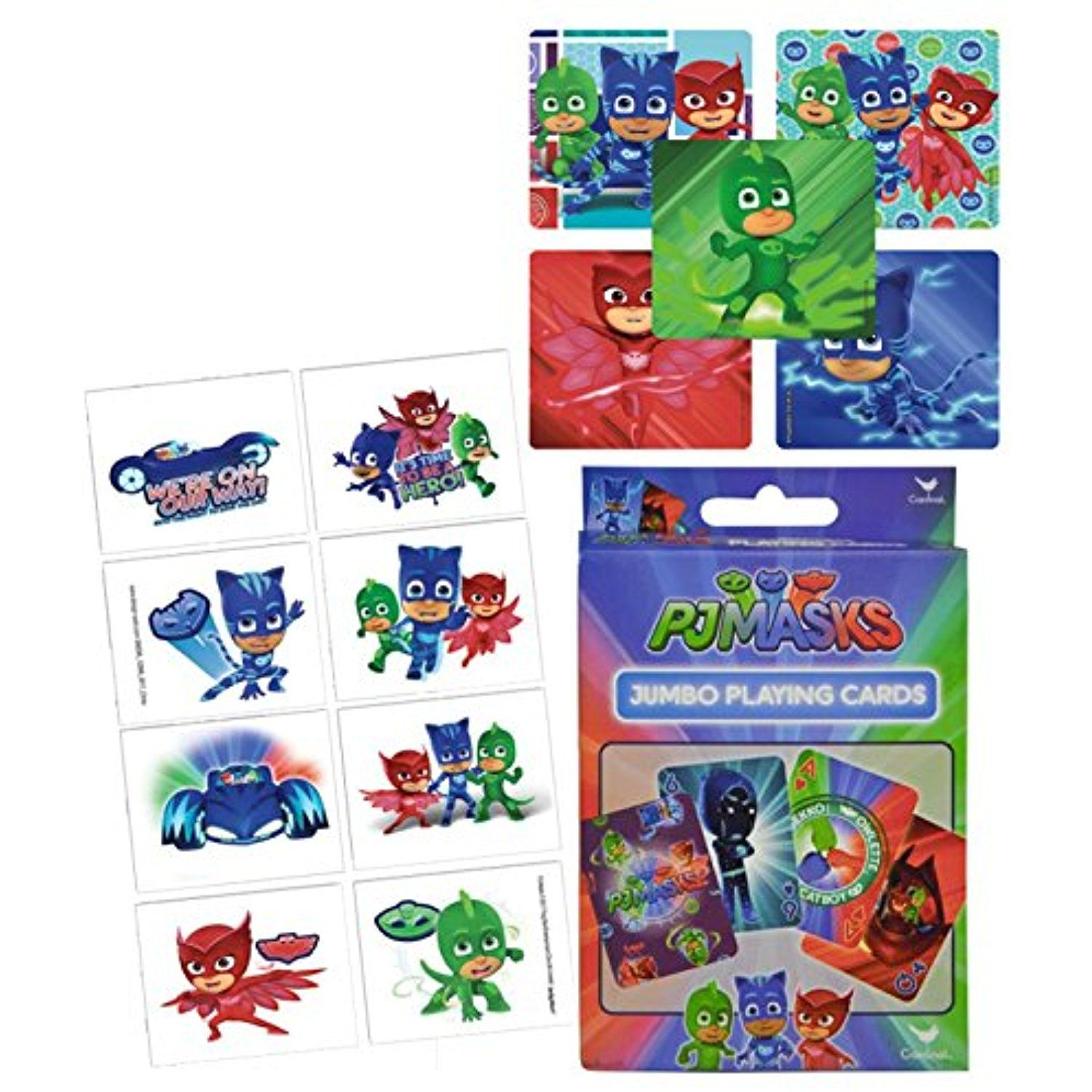 Pj masks stickers temporary tattoos partysupplies with
