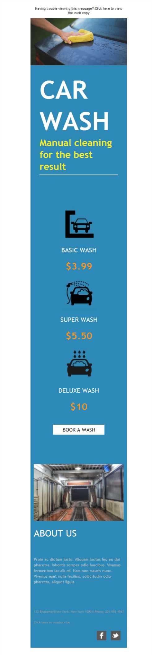 Si tu negocio consiste en el lavado de coches, esta plantilla de ...