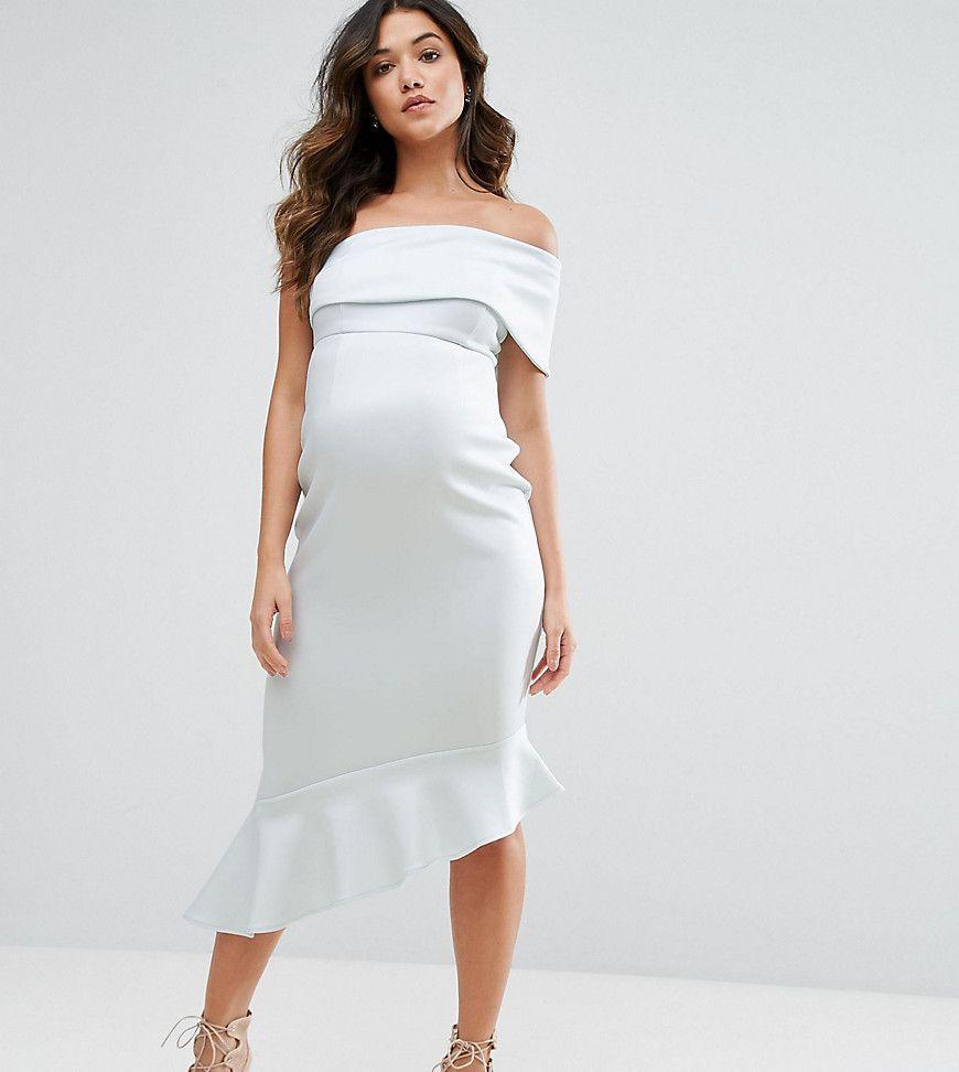 Asos maternity one shoulder peplum midi dress blue products asos maternity one shoulder peplum midi dress blue ombrellifo Images