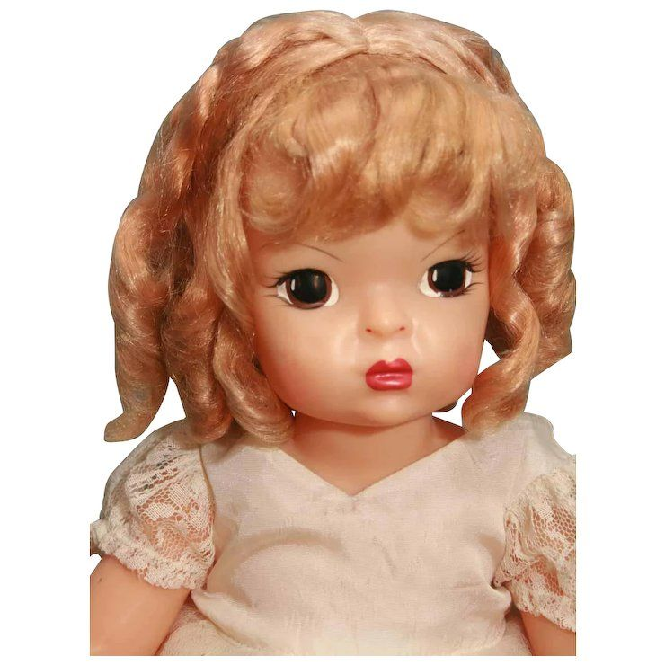 """Here Comes The Bride With Some Awesome Nails: Terri Lee Hard Plastic Doll 16"""" Tall In Beautiful Tagged"""