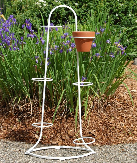 Vintage Art Deco Iron Plant Stand With By Cobblestonesvintage
