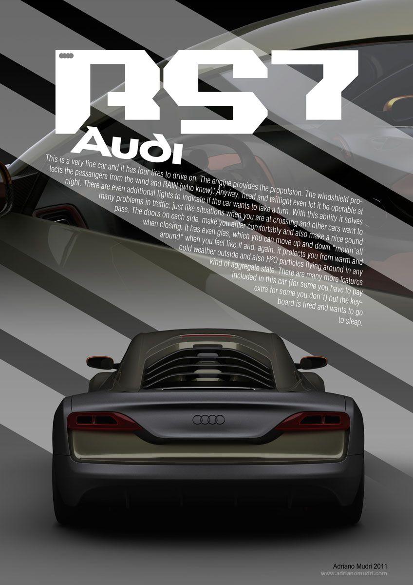 front poster audi rs7 conceptadriano mudri | presentations