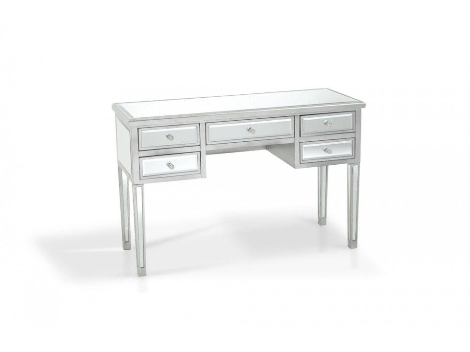 5 Drawer Mirrored Desk Desks Home Office Bob S Furniture