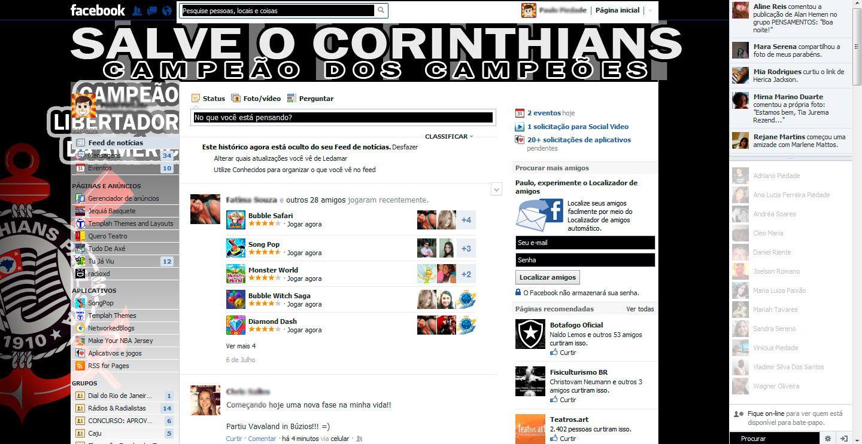 Tema pra Facebook - Corinthians Campeão da Libertadores 1