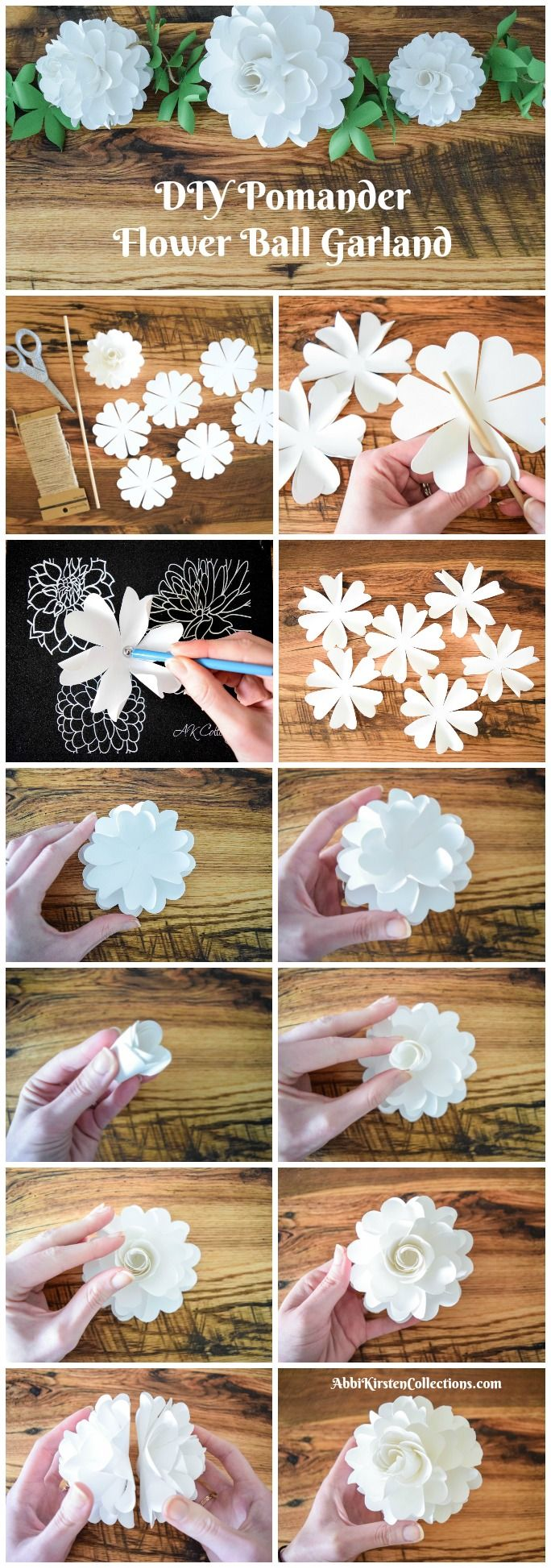 How to make paper flower balls step by step tutorial flower ball how to make paper flower balls step by step tutorial flower ball flower crafts and diy paper mightylinksfo