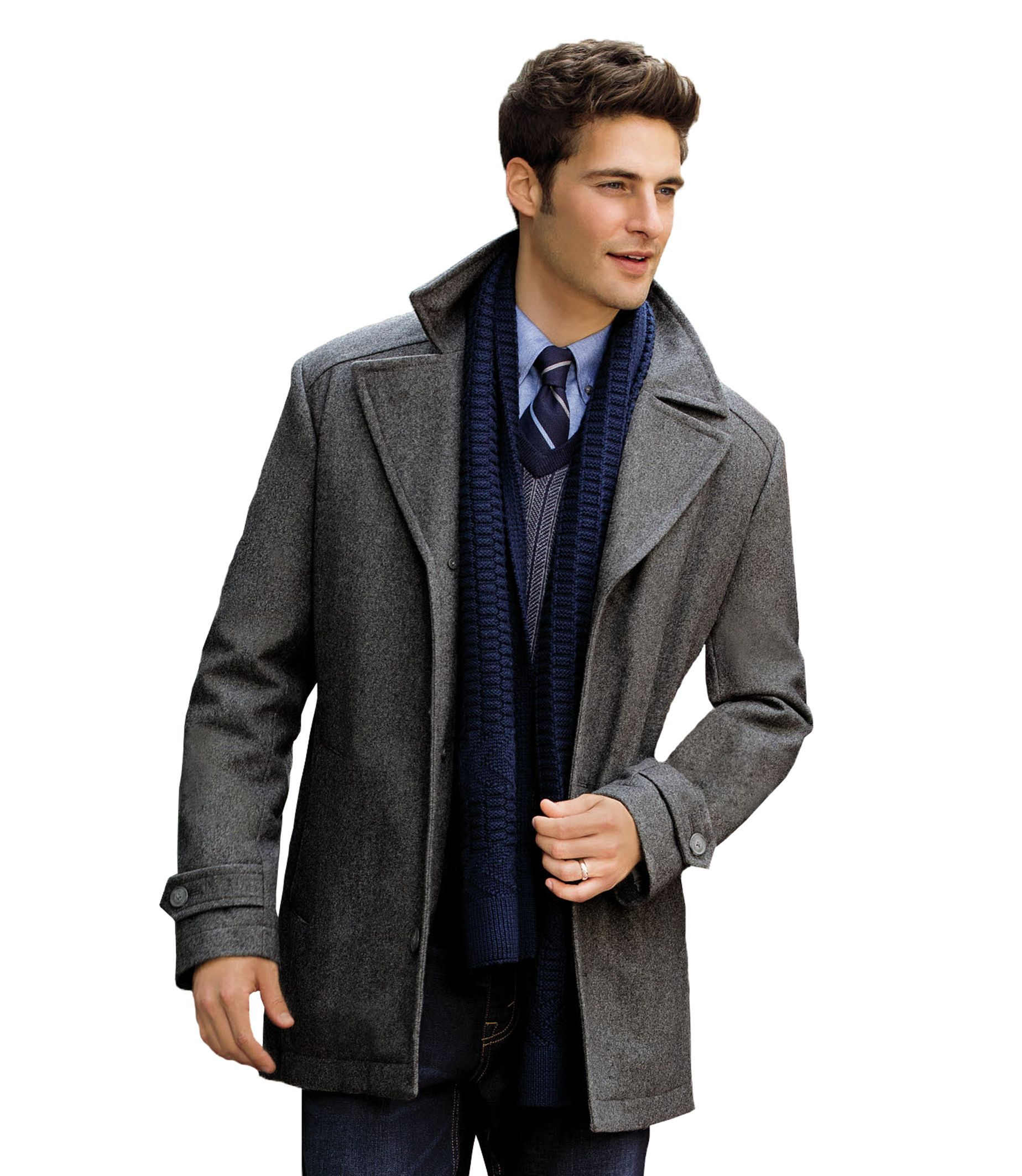 Executive Collection Traditional Fit 3/4 Length Car Coat ...