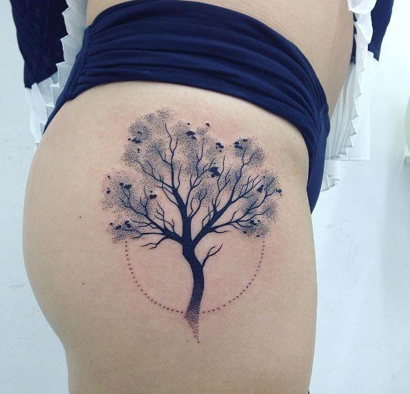 Image result for thigh tattoo tree | Blossom tree tattoo ...