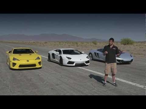 Bugatti Veyron vs Lamborghini Aventador vs Lexus LFA vs McLaren MP4-12C - Head 2 Head Episode 8.mp4