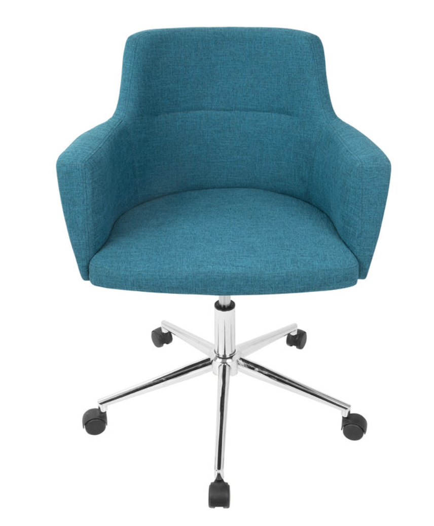 150 Andrew Office Chair Teal At Home Contemporary Office Chairs Adjustable Office Chair Office Chair