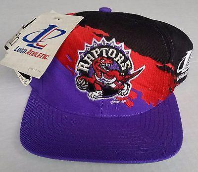sale retailer fb653 e861a Toronto Raptors Vintage Snapback Logo Athletic Splash Hat NBA Cap Rare NWT