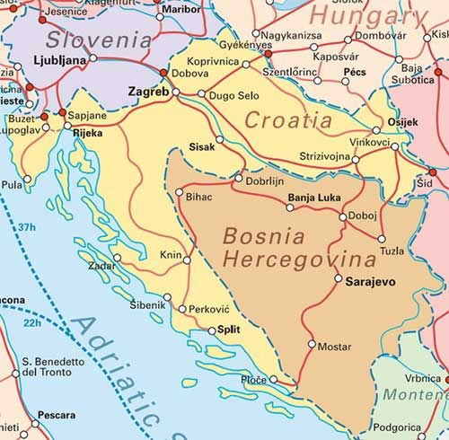Train Network Map Balkans Google Search Croatia Map Croatia Map