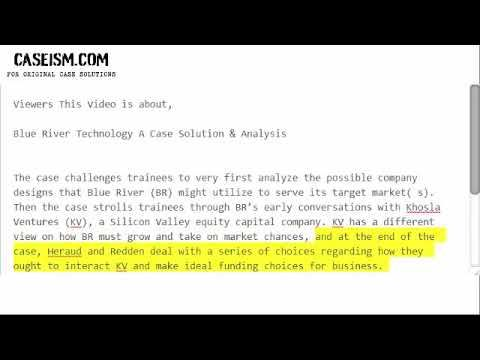 Blue River Technology A Case Solution  Analysis CaseismCom