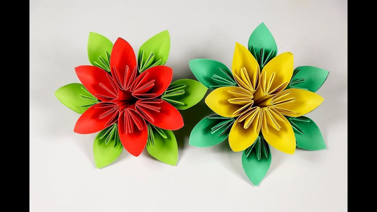 How To Make An Easy Origami Paper Flower Paper Flower Tutorial