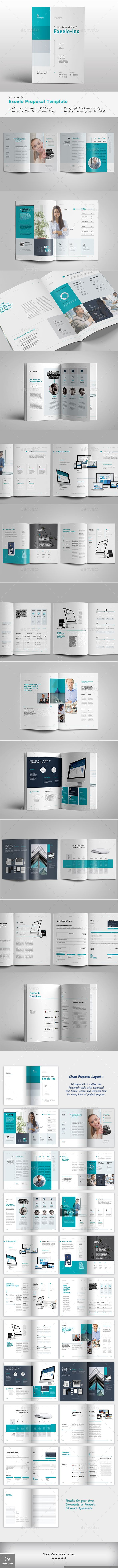 project proposal brochure template indesign indd 40 complete pages