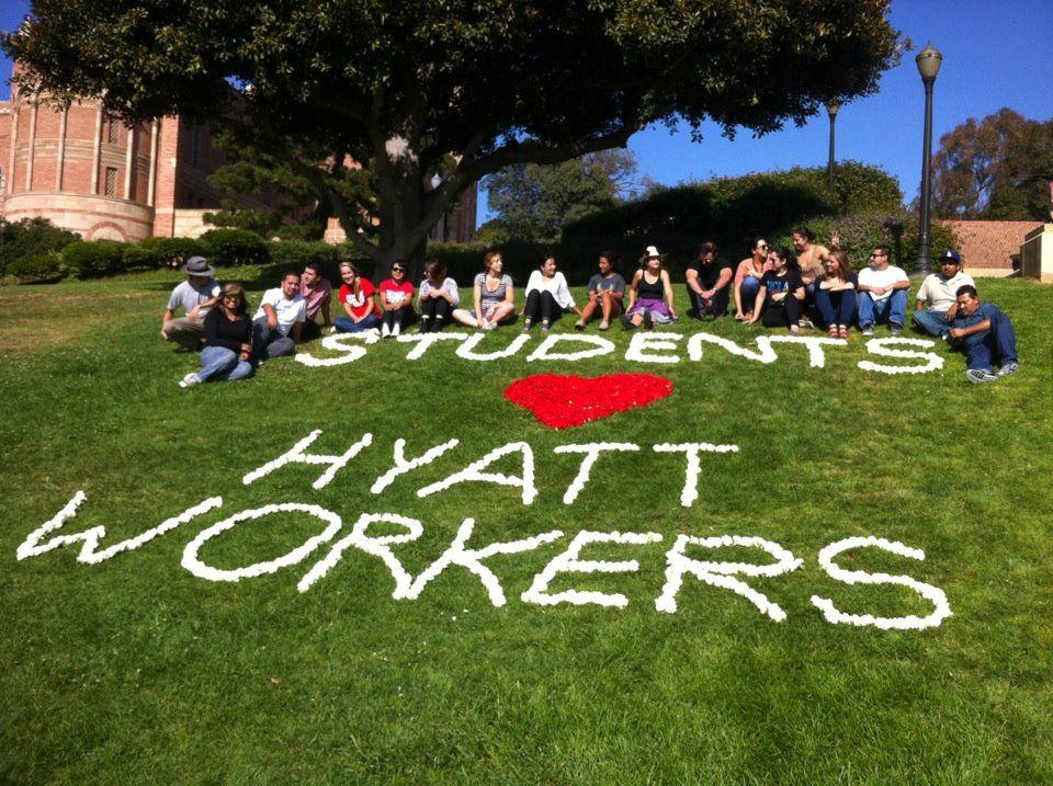 Students support Hyatt Workers! Vote Hyatt Worst!