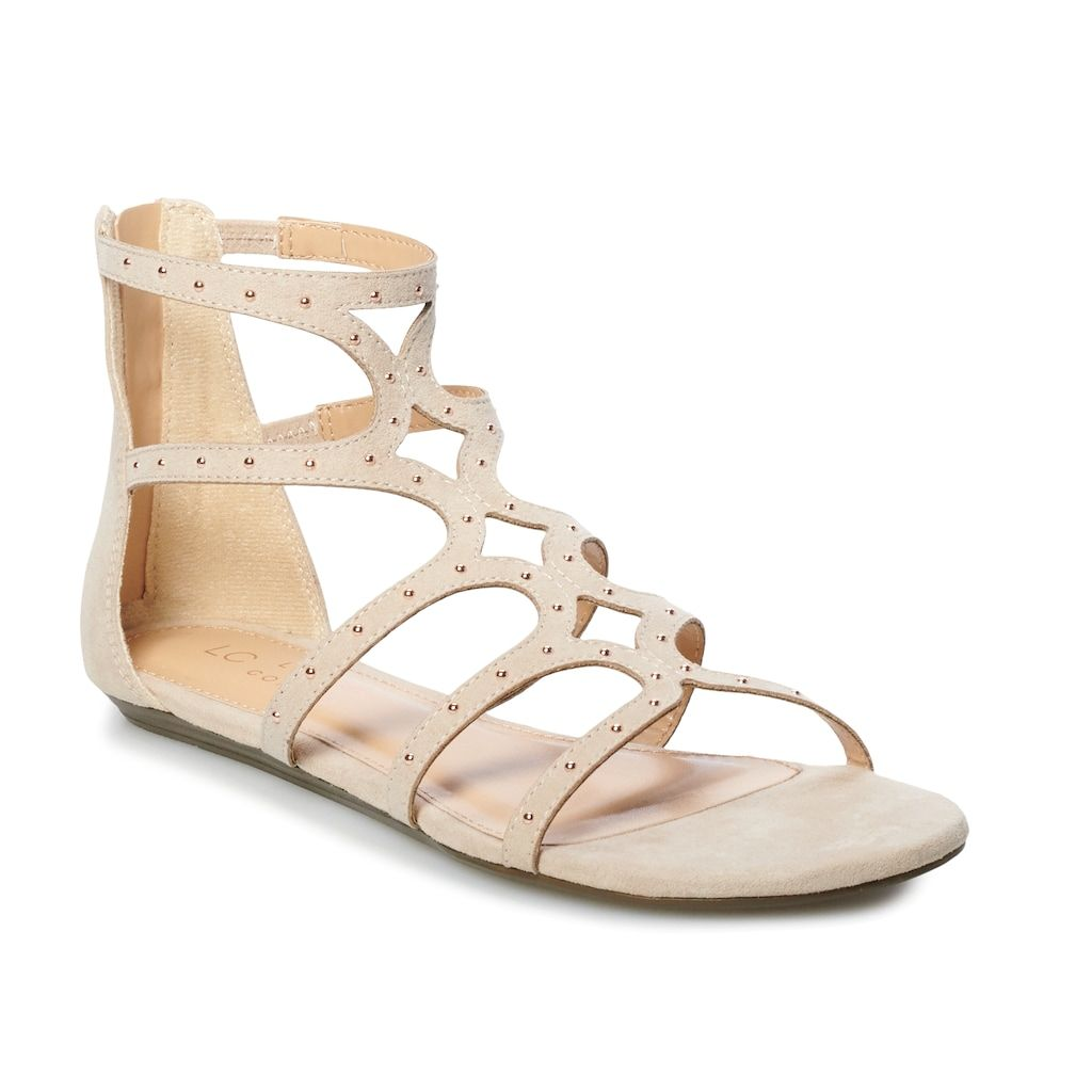 LC Lauren Conrad Womens Tube Strap Wedge Sandals