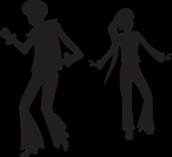 423ga Silhouette Of 1970s Man And Woman Dancing Silhouette Dance Clip Art