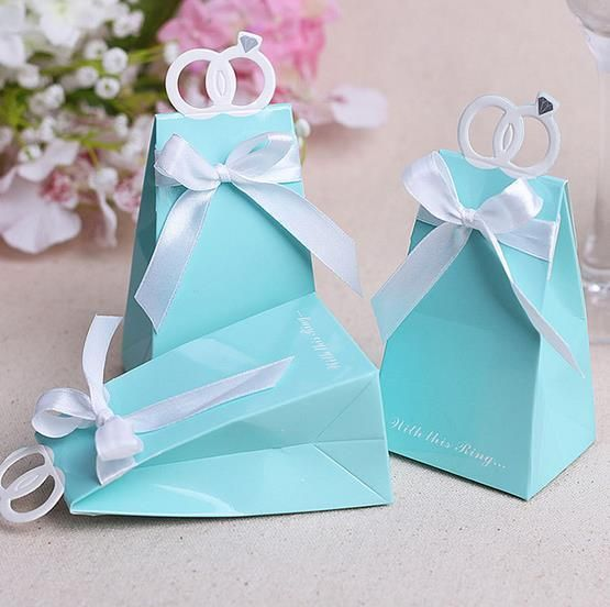 100 Cheap Wedding Favour Ideas For Under 1 Each: 2019 Tiffany Blue Candy Box Decoupage Paper Wedding Favor