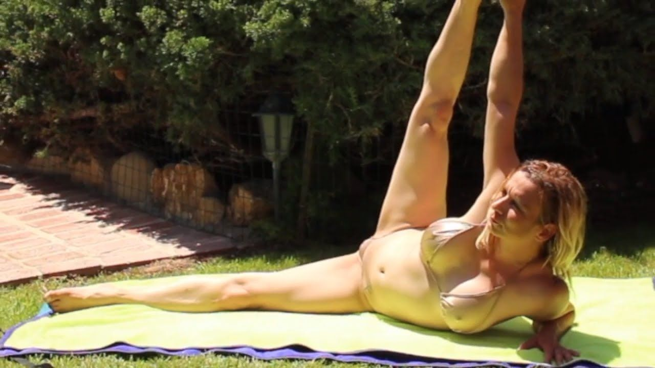 Nearly Nude Yoga By Maren Leg Stretch  Yoga  Yoga, Leg -6803