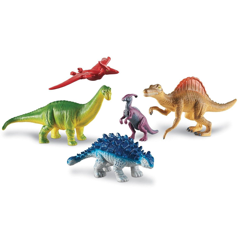 Jumbo Dinosaurs Set 2 Dino Figurines 5 Pc Playset Educational