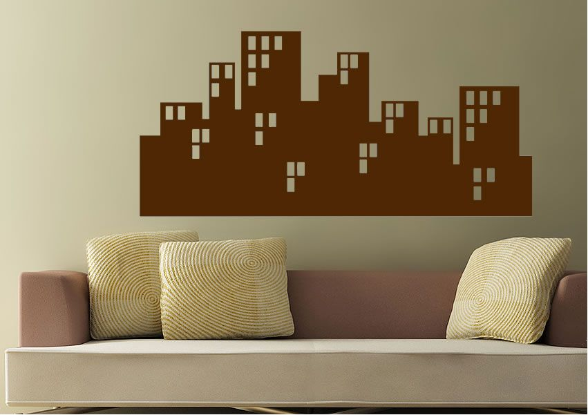 City block by moonlight architecture wall stickers numerous sizes prices from 9 99 http